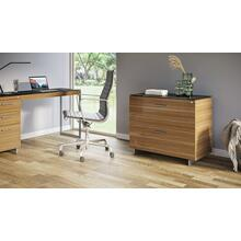 See Details - Sequel 20 6116 Lateral File Cabinet in Walnut Satin Nickel