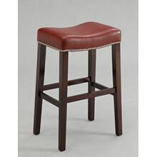 "ACME Lewis Counter Height Stool (Set-2) - 96295 - Red PU & Espresso - 26"" Seat Height"