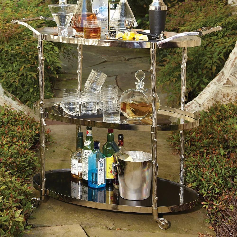 See Details - Arbor Bar Cart-Nickel