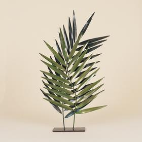 Pair of Metal Palm Fronds on Stand