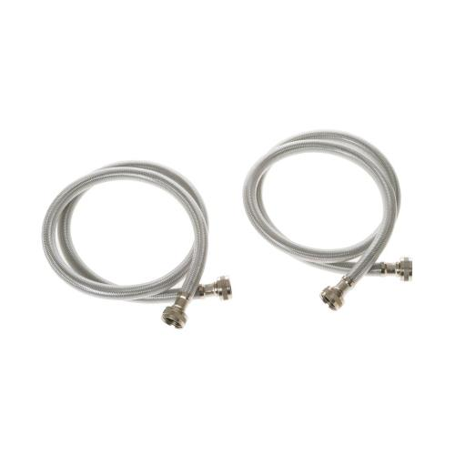 2 PK - Stainless Steel 4 ft Hoses
