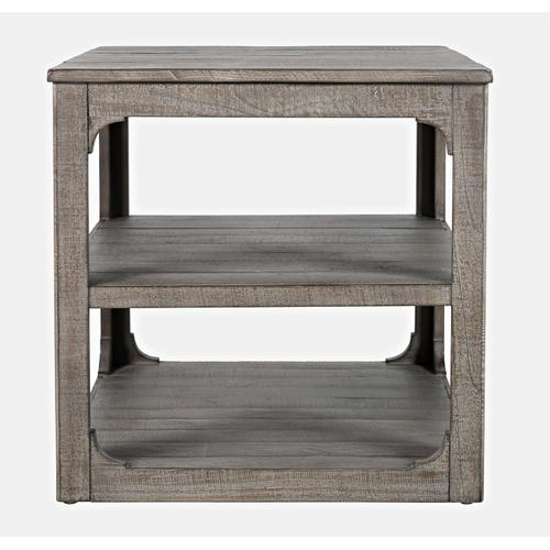 Westfield End Table - Weathered Grey
