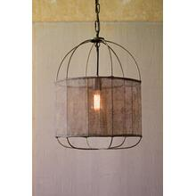 drum pendant light with fabric shade