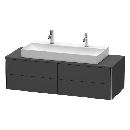 Duravit - Vanity Unit For Console Wall-mounted, Graphite Matte (decor)