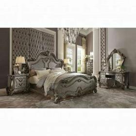 ACME Versailles California King Bed - 26854CK - Antique Platinum