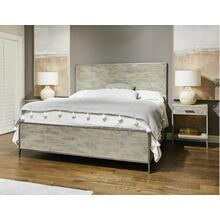 Cameron Panel Bed - King / Raw Silk