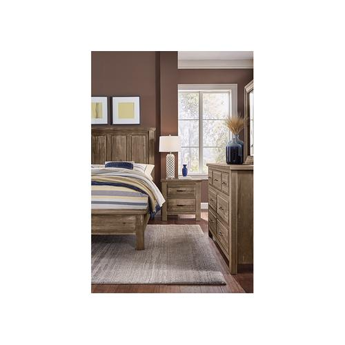King Mansion Bed with Low Profile Footboard