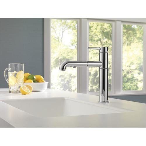 Product Image - Chrome Single Handle Pull-Out Kitchen Faucet