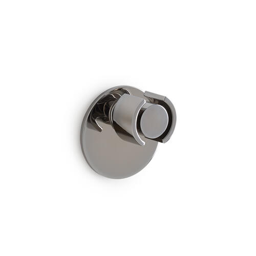 High Polished Platinum Eclipse Door Knob