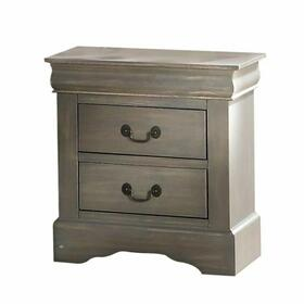 ACME Louis Philippe III Nightstand - 25503 - Antique Gray