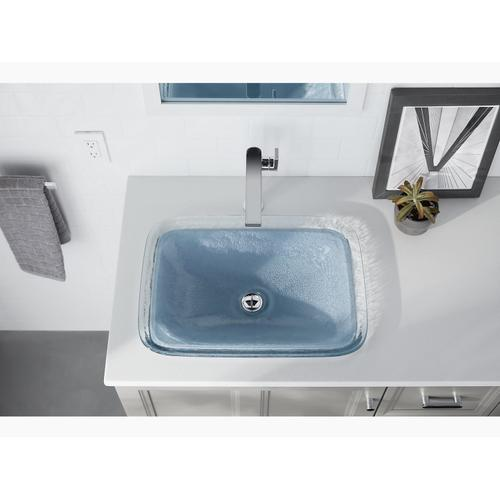 Translucent Doe Glass Vessel Bathroom Sink