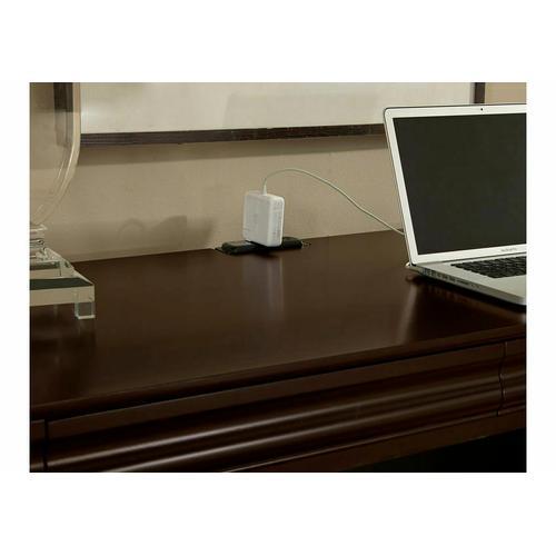 2-Drawer Laptop/Tablet Desk with Charging Station