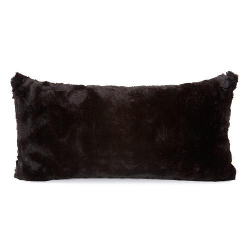 Howard Elliott - Kidney Pillow Angora Ebony - Down Insert