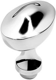 Chrome Plate Raised oval door knobs
