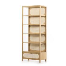 See Details - Allegra Bookcase-honey Oak Veneer