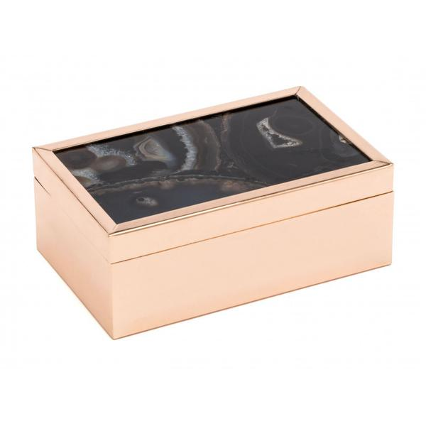 Small Stone Box Black