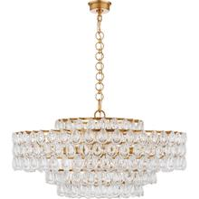 AERIN Liscia 12 Light 36 inch Gild Chandelier Ceiling Light, Large