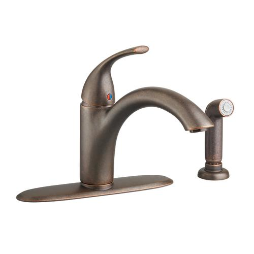 American Standard - Quince 1-Handle Kitchen Faucet with Side Spray  American Standard - Oil Rubbed Bronze