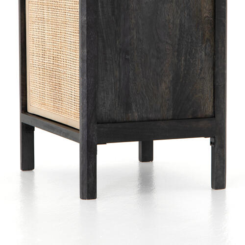 Left Configuration Black Wash Finish Sydney Nightstand
