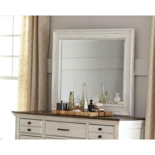 - Traditional Vintage White Mirror