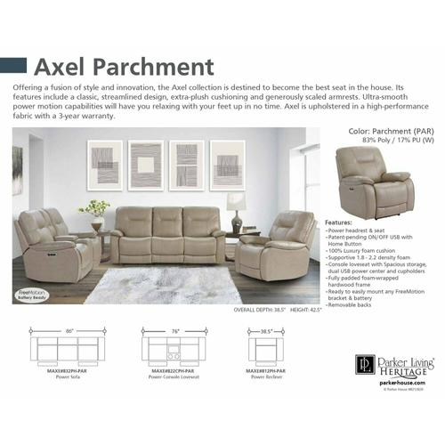 Parker House - AXEL - PARCHMENT Power Reclining Collection
