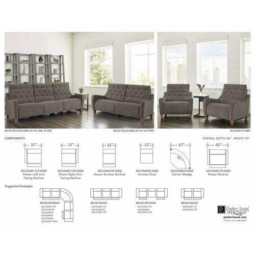 Parker House - CHELSEA - WILLOW BROWN Power Recliner