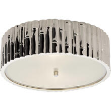 View Product - Alexa Hampton Frank 3 Light 15 inch Polished Nickel Flush Mount Ceiling Light