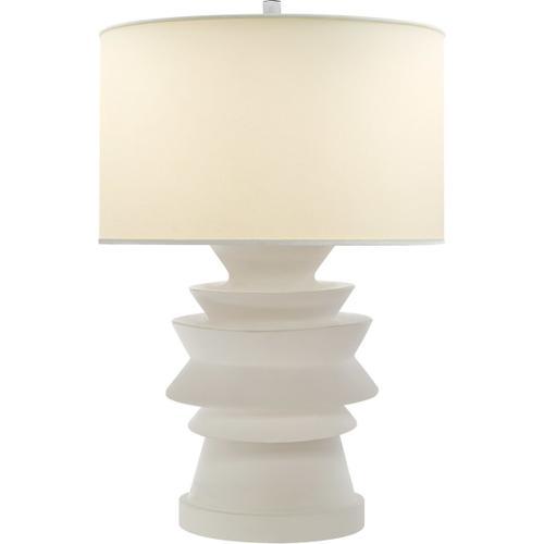 Visual Comfort - E. F. Chapman Stacked Disk 29 inch 100.00 watt White Porcelain Table Lamp Portable Light