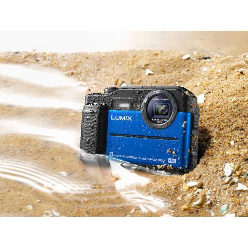 LUMIX TS7 Waterproof Tough Camera, 20.4 Megapixels, 4.6X Zoom Lens - BLUE - DC-TS7A