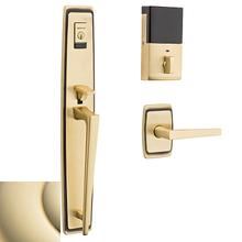 Lifetime Polished Brass Evolved Palm Springs Full Escutcheon Handleset