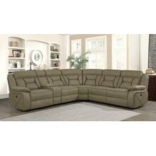 Camargue Casual Tan Motion 4 Piece Sectional