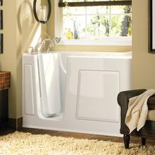 Gelcoat Value Series 30 x 60 Inch Walk in Tub with Air Spa System  Left Drain  American Standard - White
