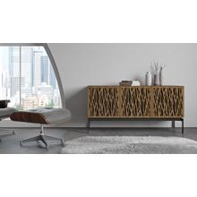 View Product - Elements 8777 Console Storage Console in Wheat Doors Natural Walnut