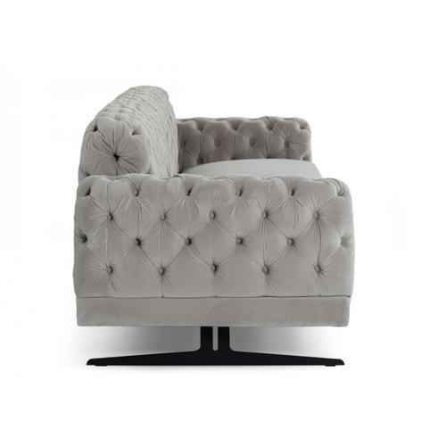 Gallery - Divani Casa Sepulveda - Modern Grey Fabric Sofa