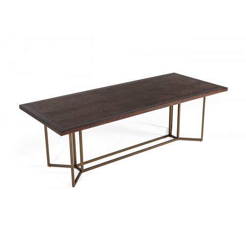 VIG Furniture - Modrest Nathan - Modern Acacia & Brass Dining Table