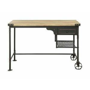 ACME Itzel Desk, Antique Oak & Sandy Gray - 92215