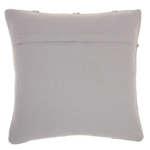 """Life Styles Gc101 Light Grey 18"""" X 18"""" Throw Pillow"""