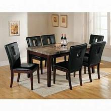 ACME Danville Side Chair (Set-2) - 16774 - Black PU & Walnut