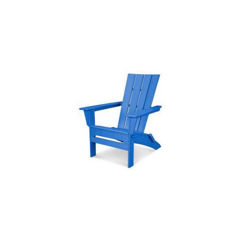Polywood Furnishings - Quattro Folding Adirondack in Pacific Blue