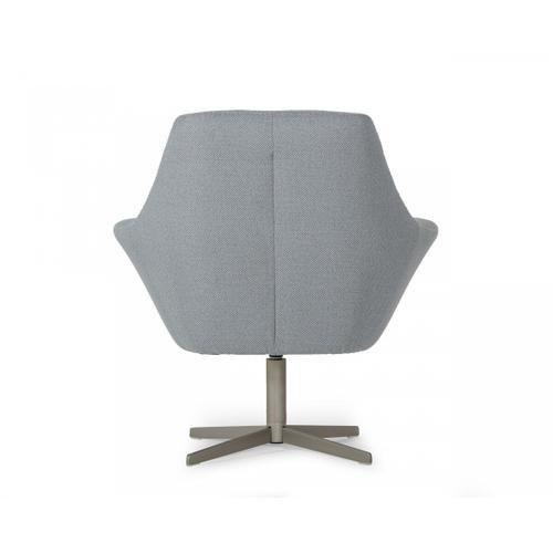 VIG Furniture - Divani Casa Elvin - Modern Grey Fabric Swivel Lounge Chair