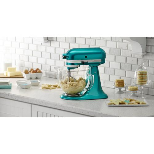 Artisan® Design Series 5 Quart Tilt-Head Stand Mixer with Glass Bowl Sea Glass