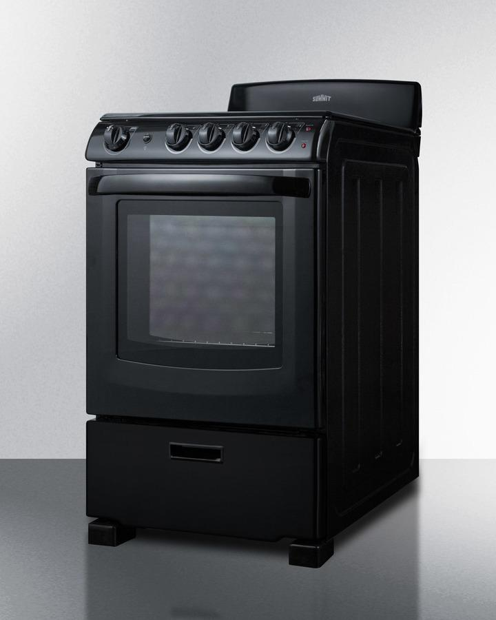 "24"" Wide Smooth-top Electric Range In Black, With Lower Storage Drawer and Oven Window; Available Winter 2018 To Replace Model Rex243b Photo #2"