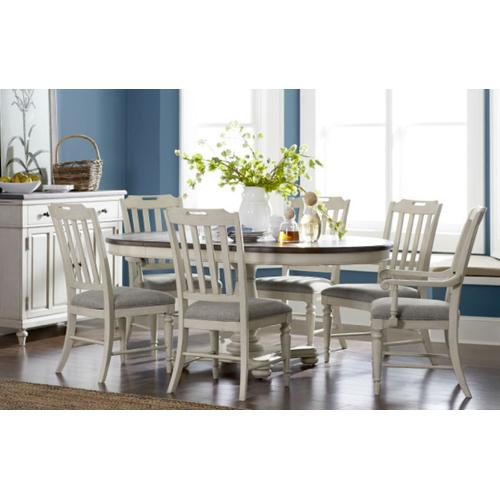 Brookhaven Round to Oval PedestalTable