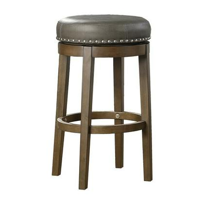 See Details - Round Swivel Pub Height Stool, Gray