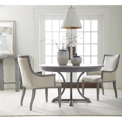 "Willow 60"" Round Dining Table - Pewter"