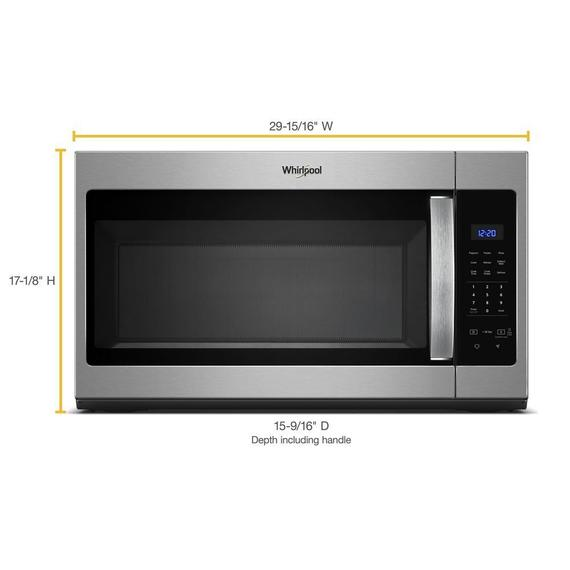 Whirlpool - 1.7 cu. ft. Microwave Hood Combination with Electronic Touch Controls