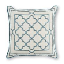 """Pillow L307 Teal Trefoil Frame 18"""" X 18"""""""