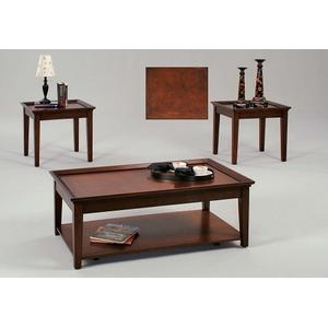 3 Pack(Cocktail W/ Casters \u0026 2 End Tables) - Tobacco Finish