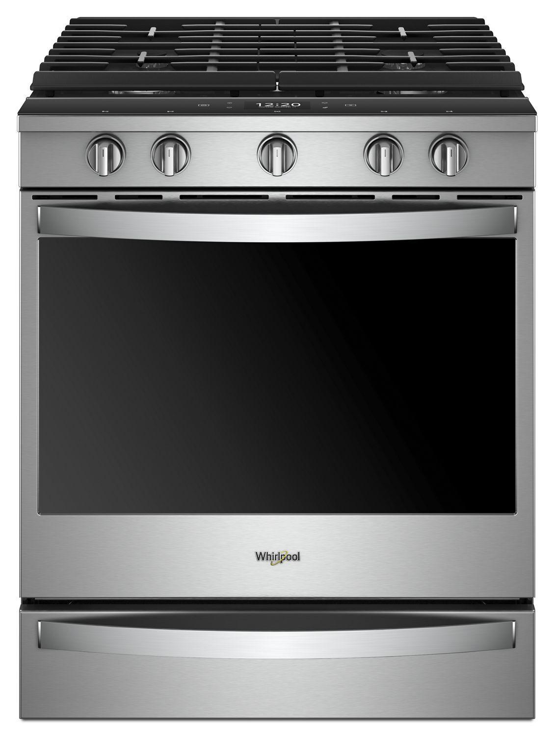 Whirlpool5.8 Cu. Ft. Smart Slide-In Gas Range With Ez-2-Lift™ Hinged Cast-Iron Grates Fingerprint Resistant Stainless Steel