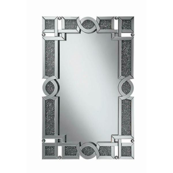 See Details - Ornate Silver Wall Mirror